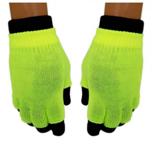 2 in 1 Handschuhe Gelb für Teens