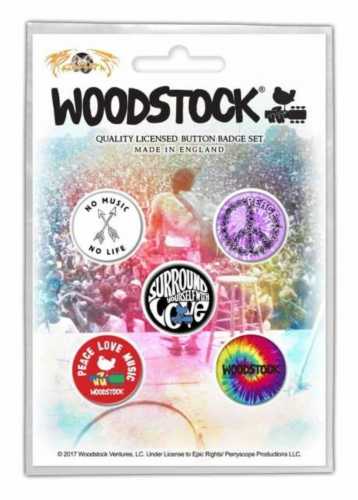 Button Set - Woodstock Surround Yourself With Love