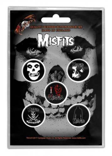 Button Set - Misfits Skull