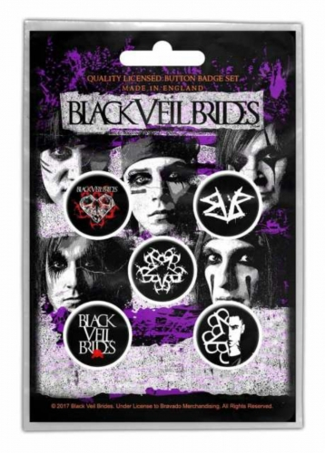 Button Set - Black Veil Brides Pentagram