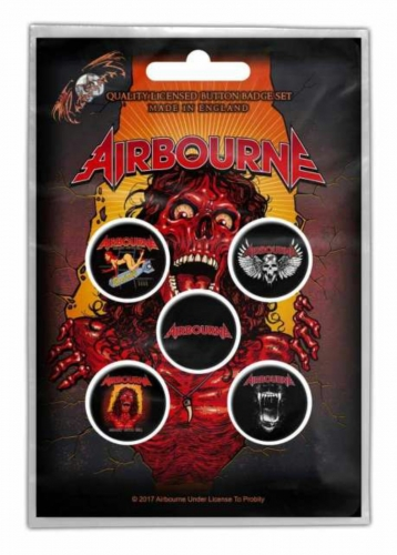 Button Set - Airbourne Breakin' Outta Hell