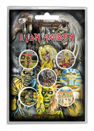 Button Set - Iron Maiden Early Albums