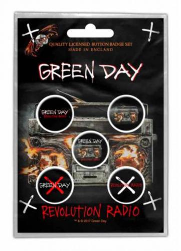 Button Set - Green Day Revolution Radio