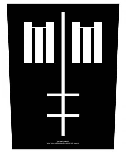 Marilyn Manson Rückenaufnäher Cross Logo