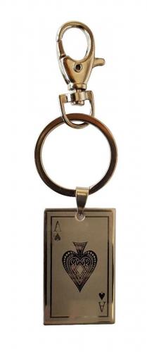 Spielkarte Schlüsselanhänger Pik As