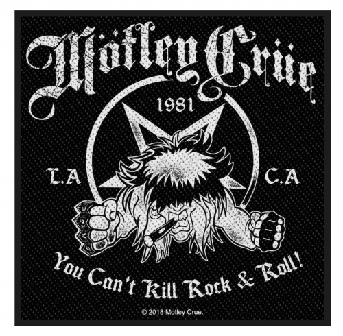 Mötley Crüe Aufnäher 'You cant kill Rock 'n Roll'