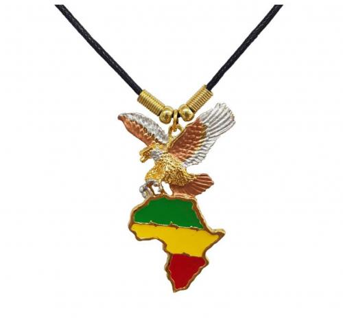 Halskette Adler & Afrika Anhänger