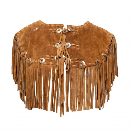 Brown Leather Vest for women