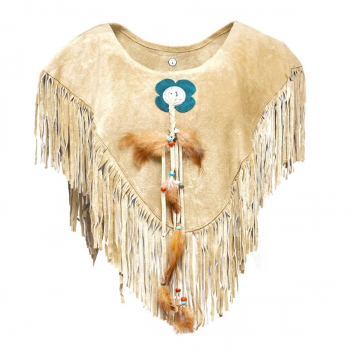 Womens Poncho with pendant- Single piece