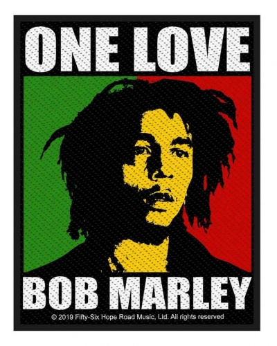 Bob Marley One Love Gewebter Aufnäher