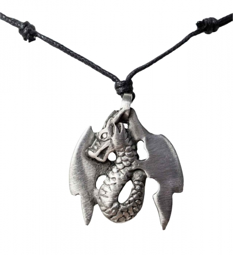 Necklace with dragon pendant