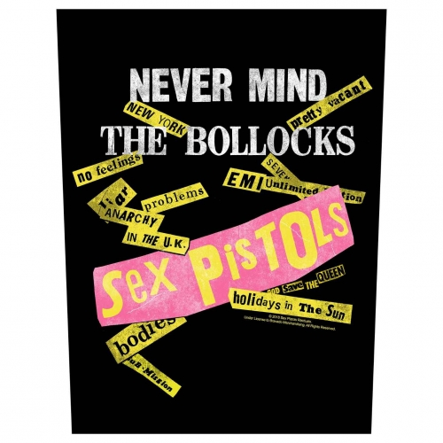 Sex Pistols Rückenaufnäher Never mind the Bollocks