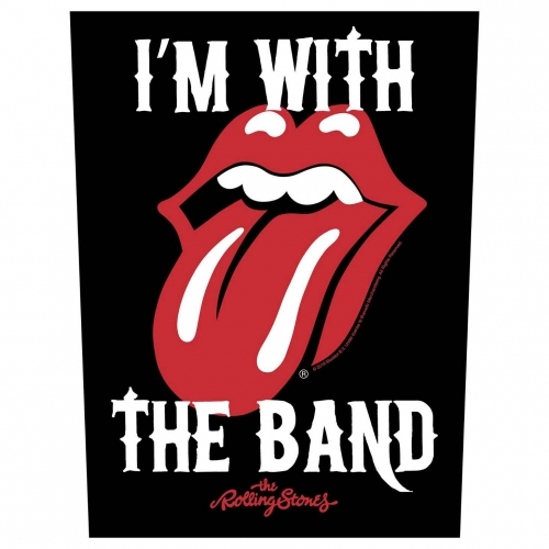 Rolling Stones Rückenaufnäher 'I´m with the band'