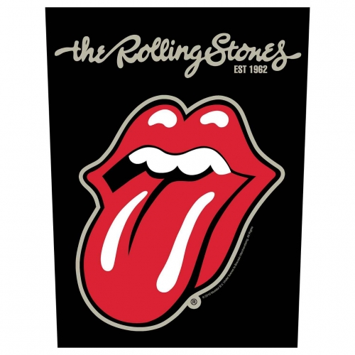 Rolling Stones Rückenaufnäher 'Plastered tongue'