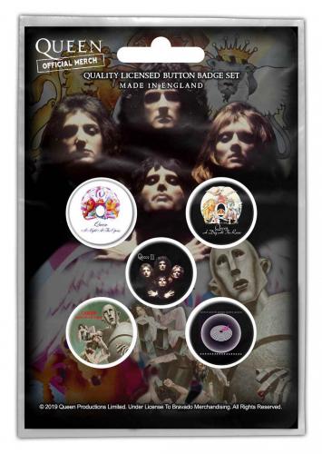 Queen Button Set - Early Albums