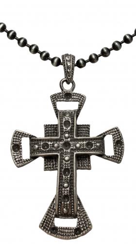 Kugelkette mit großem Anhänger Kreuz