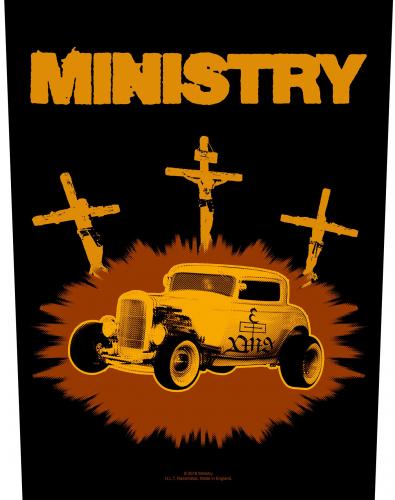 Ministry Rückenaufnäher 'Jesus Built My Hotrod'