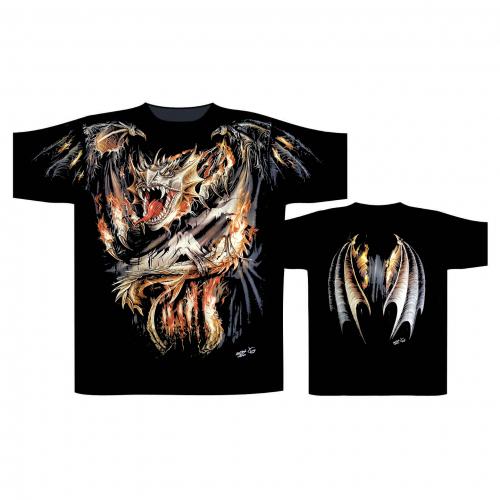 T-Shirt Feuerdrache (Glow in the Dark)