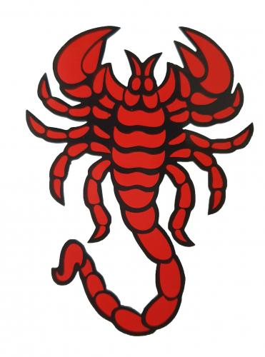 Aufkleber - Skorpion - Rot