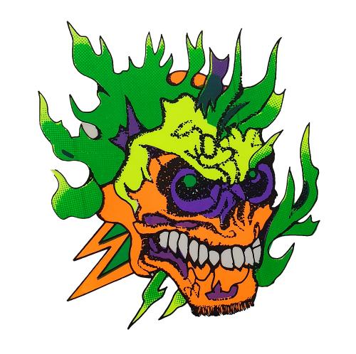 Aufkleber - Totenkopf - Grün