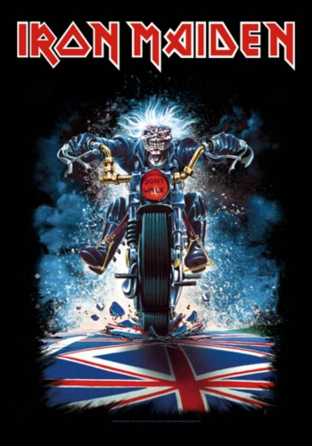 Posterfahne Iron Maiden Motorcycle