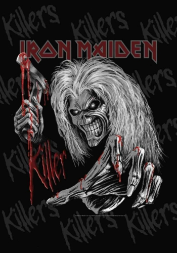 Posterfahne Iron Maiden Killer