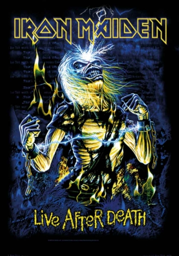 Posterfahne Iron Maiden Live after death