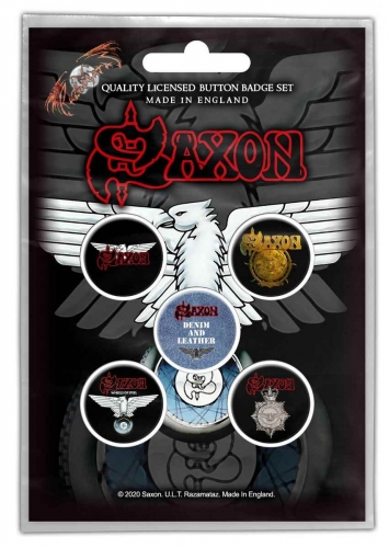 Saxon - Wheels Of Steel Button Pack