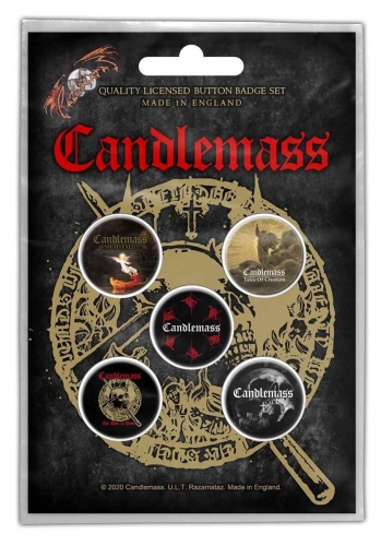 Candlemass The Door To Doom Button Badge Set