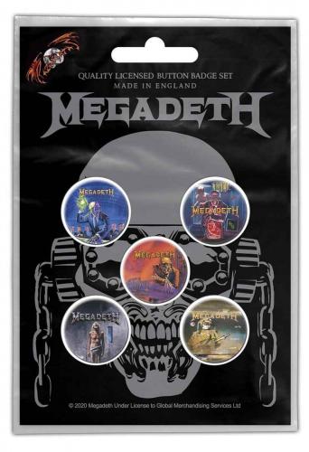 Megadeth VIC Rattlehead Button Badge Set