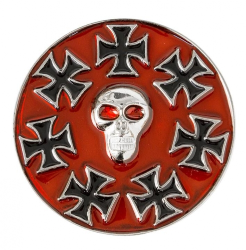 Eisernes Kreuz Totenkopf Rot