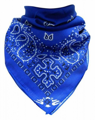 Bandana Halstuch Blau Paisley