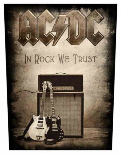 ACDC In Rock We Trust Rückenaufnäher