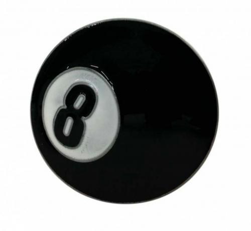 Schwarze Acht Gürtelschnalle