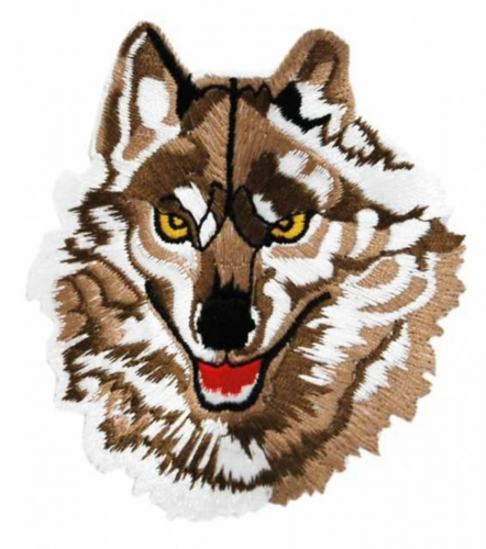 Aufnäher Brauner Wolf