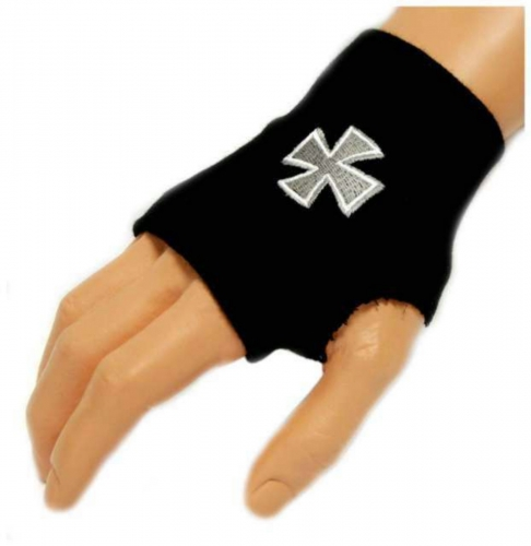 Schwarze Handstulpe Iron Cross | 005