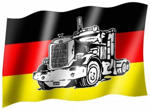 Fahne Deutschland LKW