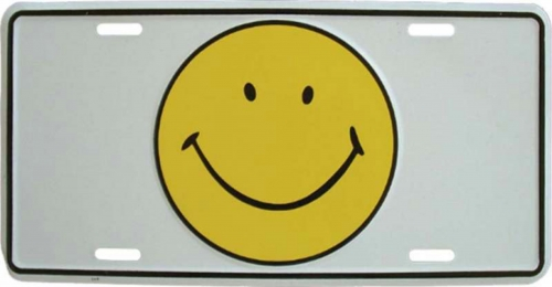 Blechschild Smiley - 30cm x 15cm