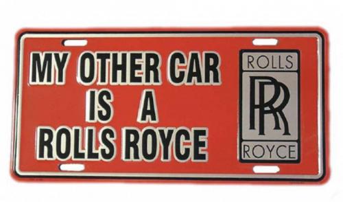 Blechschild Rolls Royce - 30cm x 15cm