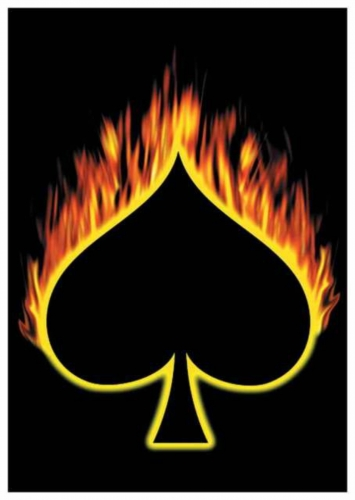Posterfahne Flaming Ace of Spades | 122