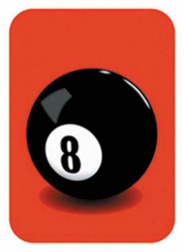 Aufkleber 8 ball   0258