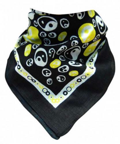 Bandana Kopftuch Gelbe Yin Yang