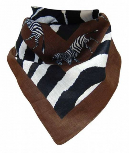 Bandana Kopftuch Zebra in Braun