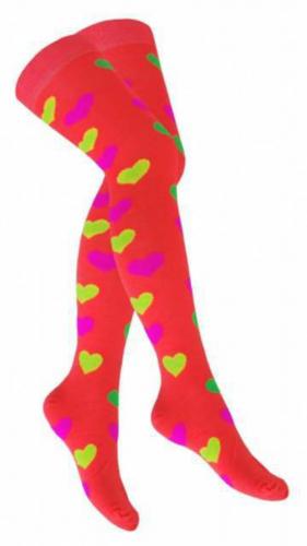 Overknee Socken Schwarz Olive Geringelt
