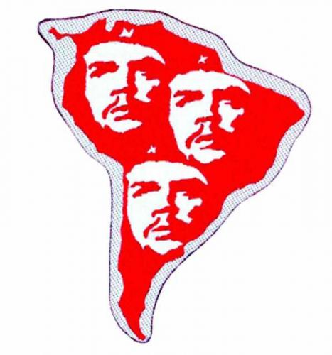 Che Guevara S. America Cut Out Aufnäher   1735