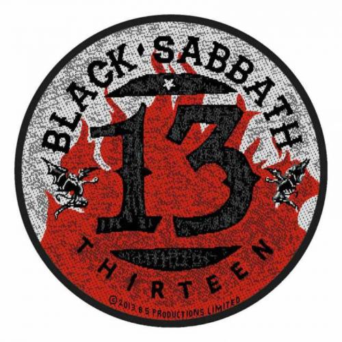 Black Sabbath 13 Flames Circular Aufnäher | 2710
