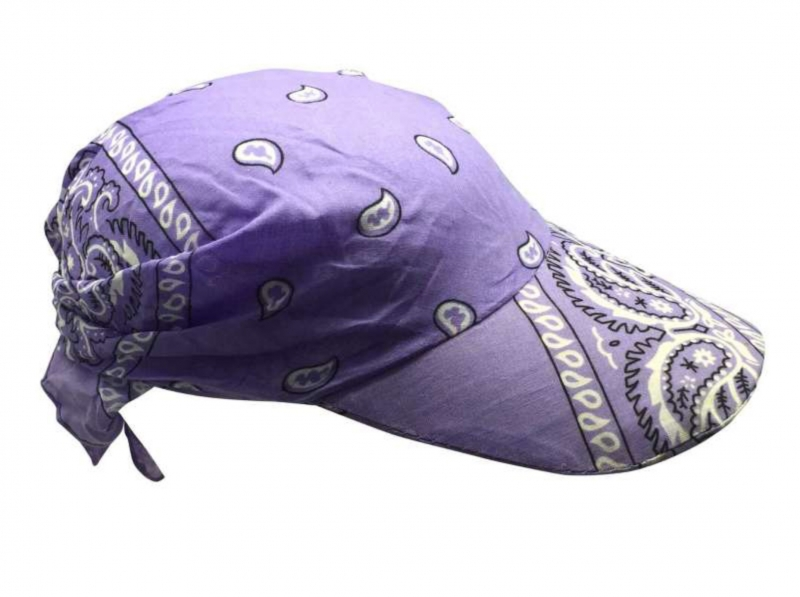 Fitted Bandana with Sun Protection in Lilac Colors 03e4ce4abcad