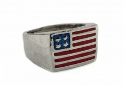 USA Fahne Ring