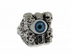 Totenköpfe Blaues Auge Ring