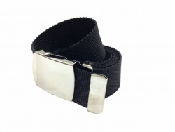 Kids Canvas Belt Black